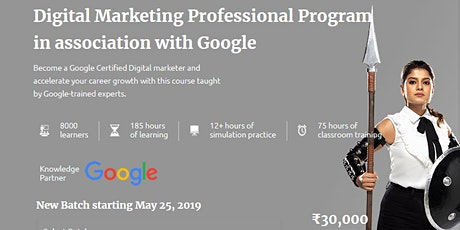 Learn Digital Marketing from Manipal ProLearn with Google India tickets
