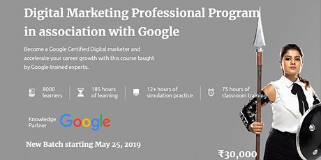 Digital Marketing Certification from Manipal ProLearn in Association with Google tickets