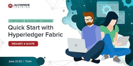 Corporate Blockchain Training: Quick start with Hyperledger Fabric [Turin] biglietti