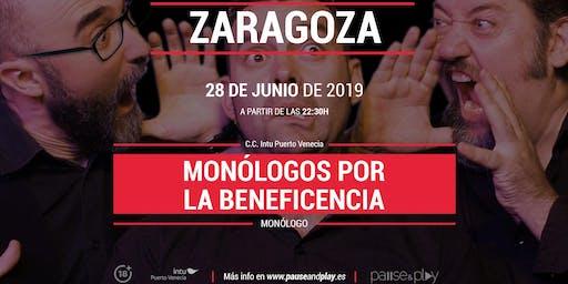 Monólogos por la beneficencia en Pause&play C.C. Puerto Venecia