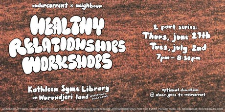 Undercurrent X Neighbour Skateboarding Healthy Relationships Workshops tickets