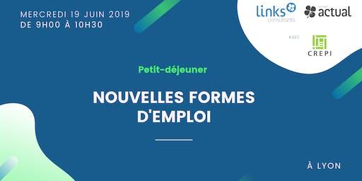 Petit-déjeuner #Lyon | Nouvelles formes d'emploi | Actual et Links Consultants & CREPI Lyon-Rhône
