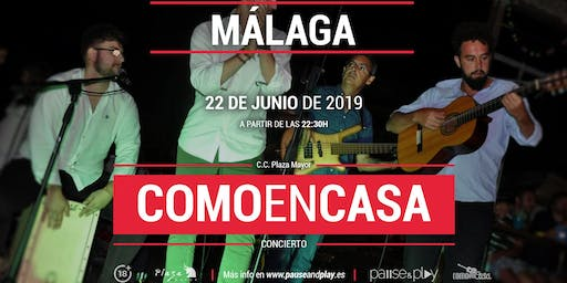 Concierto Comoencasa en Pause&play C.C. Plaza Mayor