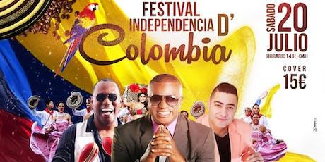 Festival independencia de Colombia tickets