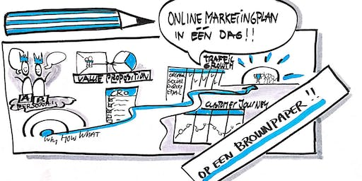 Teken je online marketingplan in één dag op een brownpaper