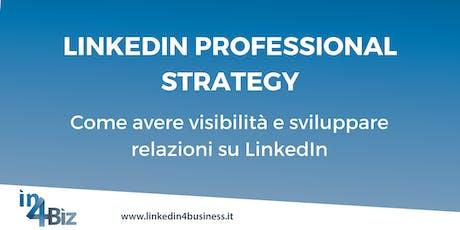 Corso LinkedIn Professional Strategy IV edizione 2019 billets
