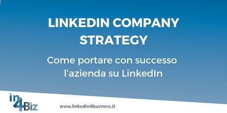 Corso LinkedIn Company Strategy IV edizione 2019 biglietti