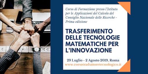 Corso in Trasferimento delle Tecnologie Matematiche per l'Innovazione