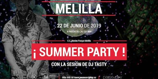 Summer party con Dj Tasty en Pause&Play C.C. Parque Melilla