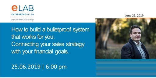 Connecting your sales strategy with your financial goals.