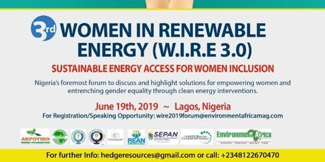 3rd Annual Women in Renewable Energy Nigeria Forum tickets
