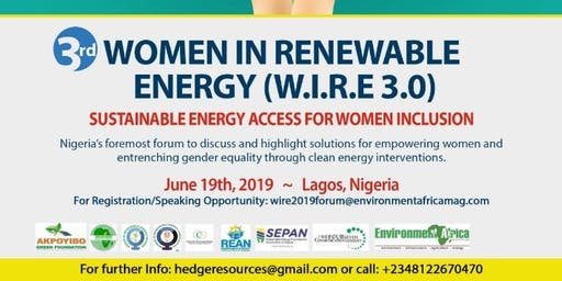 3rd Annual Women in Renewable Energy Nigeria Forum