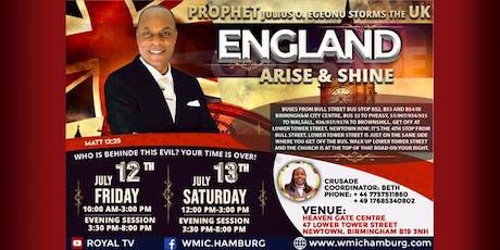 Prophet Julius O. Egeonu storms the UK tickets