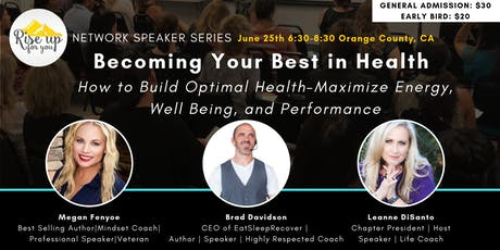 How to Build Optimal Health- Maximize Energy, Well Being, and Performance tickets