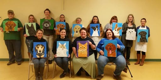 Guided Painting- Pet Portraits- Fundraiser HSWA 9/6/19