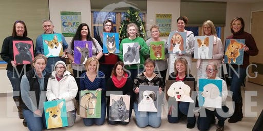 Guided Painting-Pet Portraits-Fundraiser KVHS at Circa 9/26/19