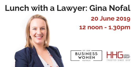 Business Women Australia Lunch with a Lawyer: Gina Nofal -  West Perth WA