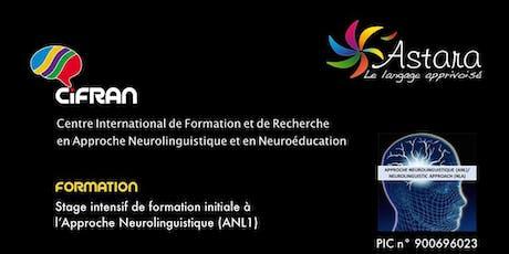 ANL1- Angers - Stage intensif de formation initiale à l'Approche Neurolinguistique billets