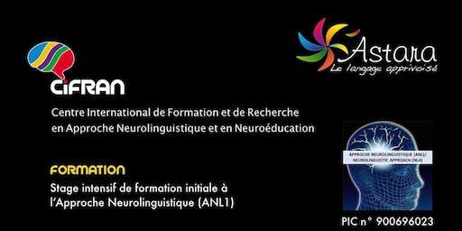 ANL1- Angers - Stage intensif de formation initiale à l'Approche Neurolinguistique