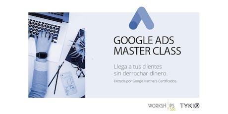 GOOGLE ADS MASTER CLASS!  entradas