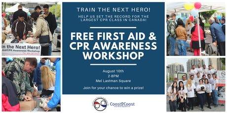 Train the Next Hero! FREE First Aid & CPR Workshop! tickets