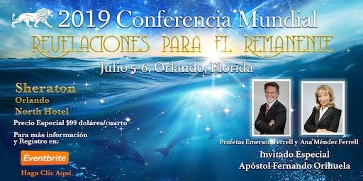"""2019 Conferencia Mundial Voz de la Luz """"Revelaciones para los Remanentes"""""""