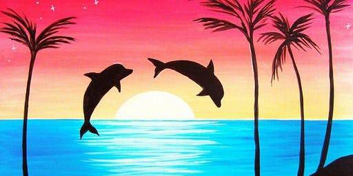 Paint and Sip - Dolphins