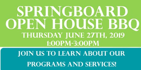 Springboard  Open House BBQ tickets
