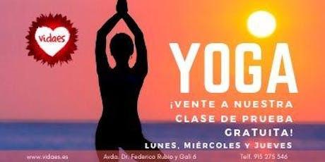 Clases de Yoga entradas