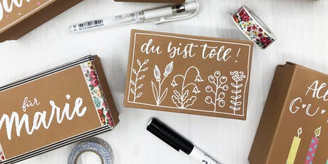 Handlettering-Kurs Thema BUNTBOX | Workshop Tickets