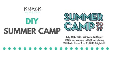 DIY Summer Camp July 15th-19th 9:00am-12:00pm