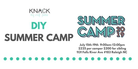 DIY Summer Camp July 15th-19th 9:00am-12:00pm tickets
