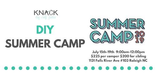 DIY Summer Camp July 15th-19th 9:00am-12:00pm