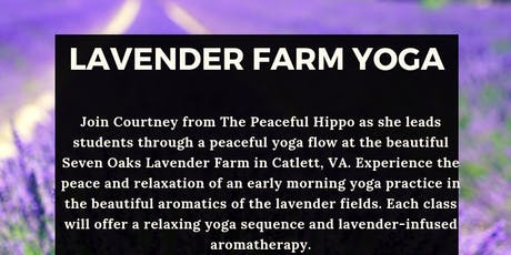 Lavender Farm Yoga -July 7th tickets