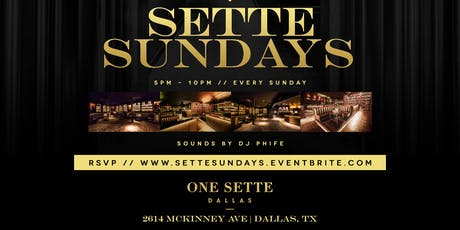 Sunday Funday @ One Sette {Sunday Funday Meets Uptown} tickets