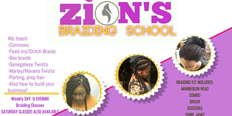ZION'S HAIR BRAIDING CLASS LOS ANGELES tickets