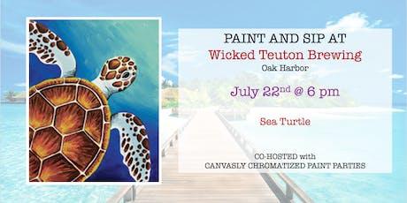 Sea Turtle Sip & Paint @ Wicked Teuton tickets