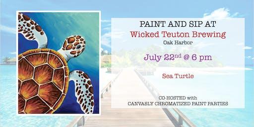Sea Turtle Sip & Paint @ Wicked Teuton