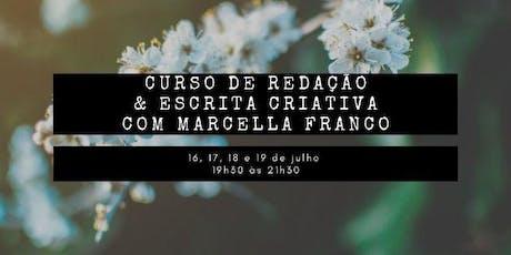 Curso de Redação & Escrita Criativa com Marcella Franco ingressos