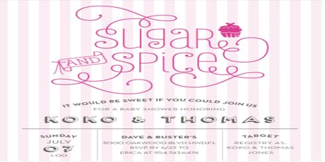 Sugar & Spice Baby Shower tickets