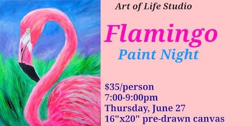 Paint Night: Flamingo