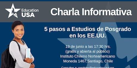 Charla de Posgrado Junio 2019 tickets