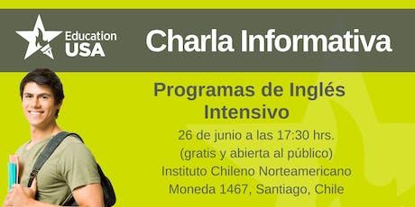 Charla de Inglés Intensivo Junio 2019 tickets