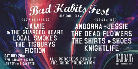 Bad Habits Fest - Day 2 tickets