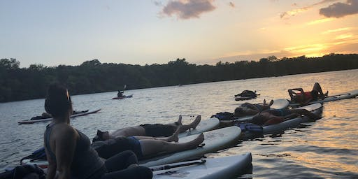 Stand Up Paddle Board Yoga at the Texas Rowing Center