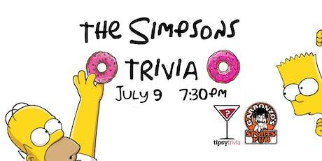 The Simpsons Trivia - July 9, 7:30pm - Garbonzos Sports Pub Pollo Park tickets