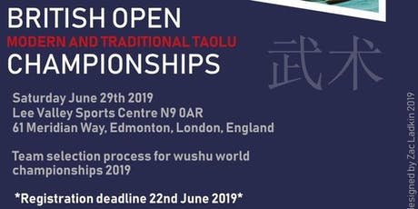 British OPEN Taolu (Kung Fu) Competition tickets