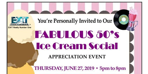 Fabulous 50's Ice Cream Social