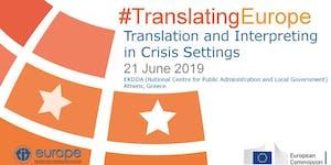 Translation and Interpreting in Crisis Settings