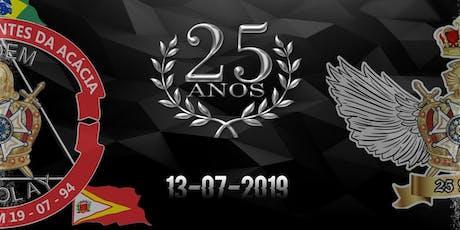 """25  Anos - Capítulo """"Sementes da Acácia"""" nº232 da Ordem DeMolay ingressos"""